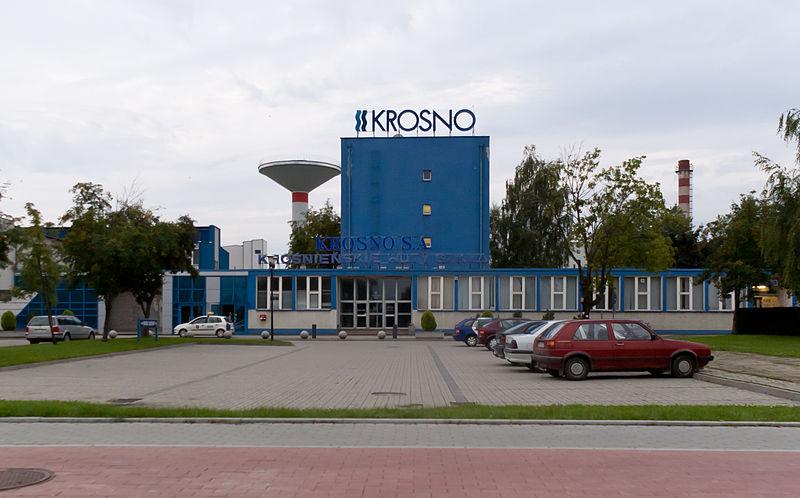 Krośnieńskie Huty Szkła, wejście główne, Krosno, 2011